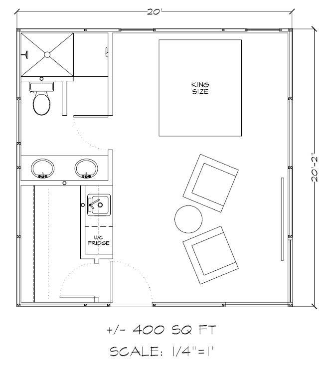 Kit homes and guest house kits gambrel style for 400 sq ft home