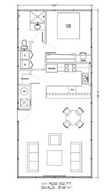 900 Square Feet Mohave House Kit Floor Plan