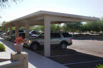 Commercial Carports - Full Cantilever Design
