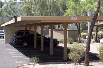 Commercial Carports - Semi Cantilever