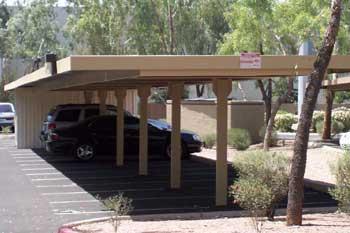 Commercial Carports - Semi Cantilever