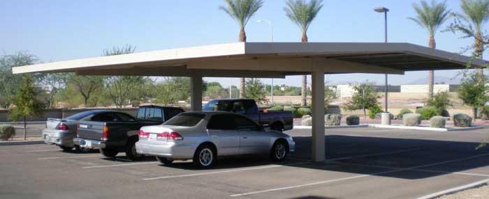 TX commercial carport t cantilever
