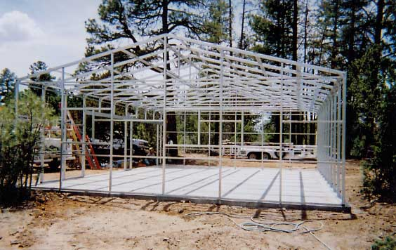 Kit homes guest house and cabin kits for Steel frame cabin