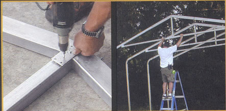 House kit roof frame assembly