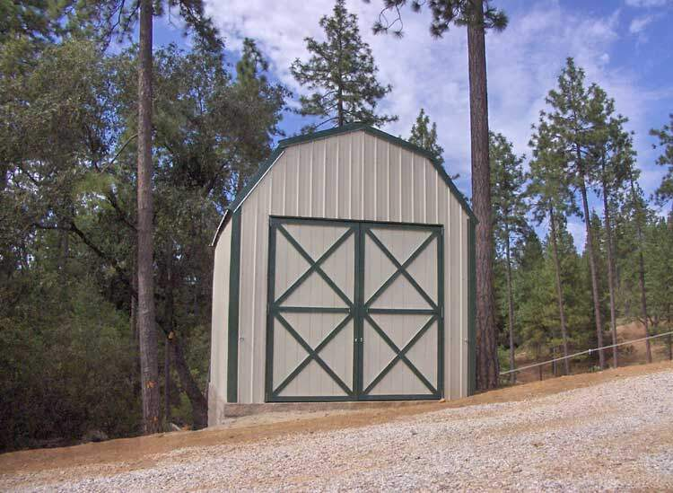 Steel Gambrel Barn