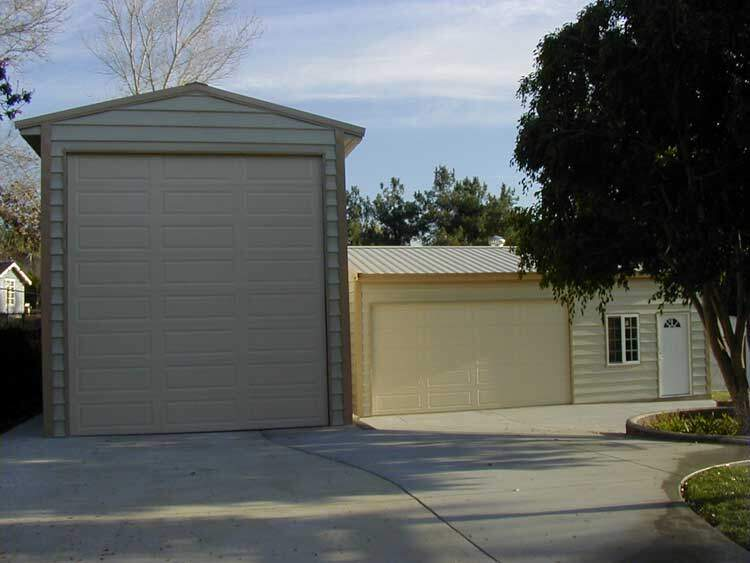 Steel rv garage metal buildings and carports made in texas for Metal rv garage