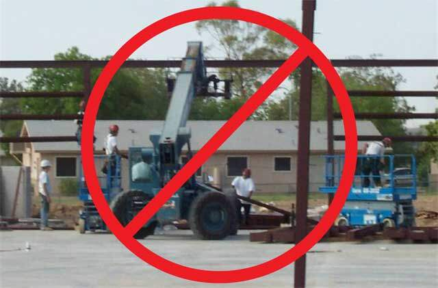 No forklifts needed