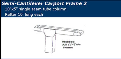 Semi Cantilever Frame Style 2