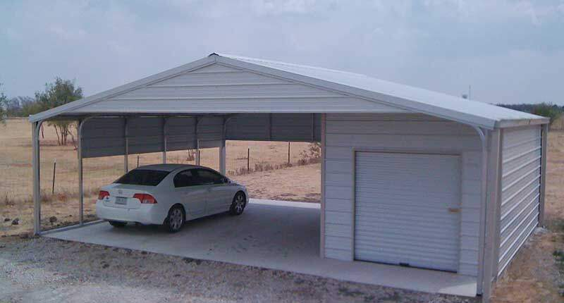 SMALL STORAGE WITH CARPORT