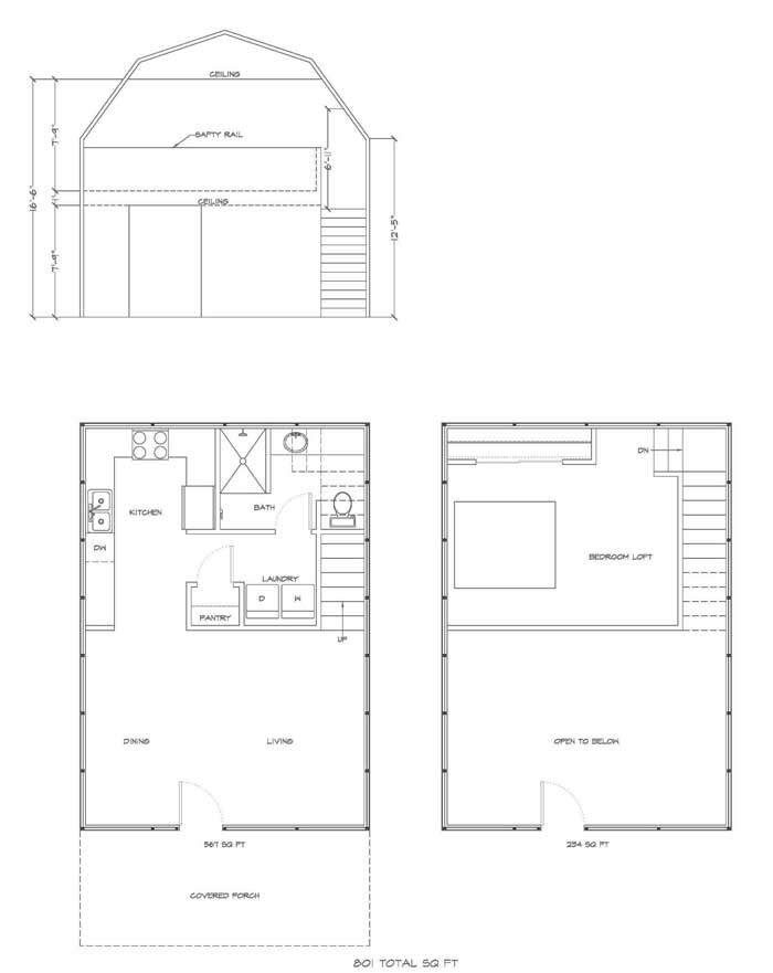 With Loft Floor Plan