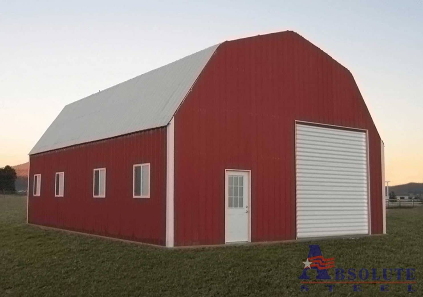 Gambrel barn style metal building kit for Gambrel barn homes kits