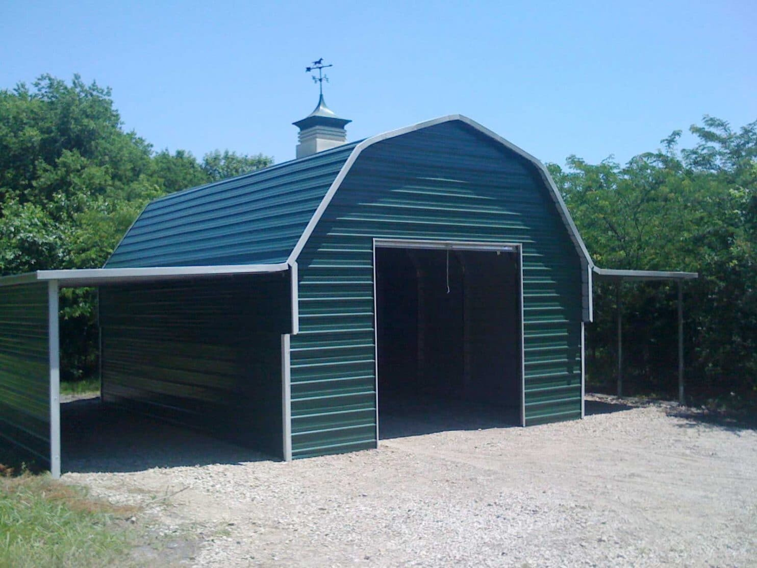 Gambrel barn style metal building kit for Metal cabin kits