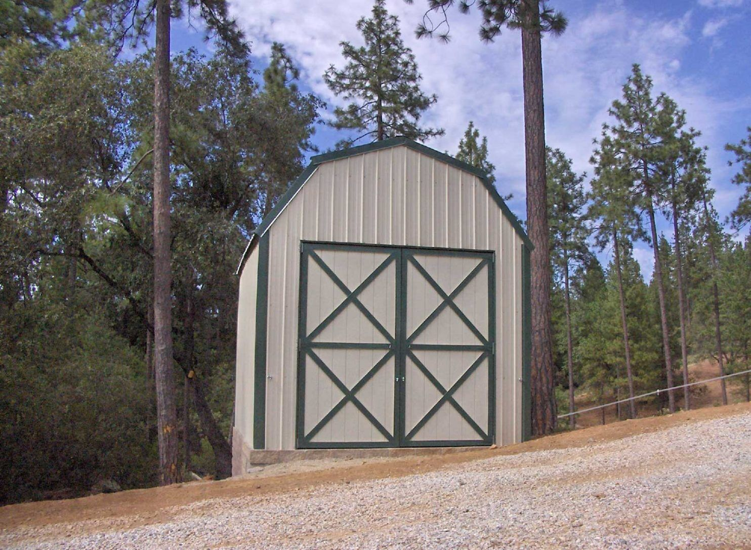 gambrel barn style metal building kit