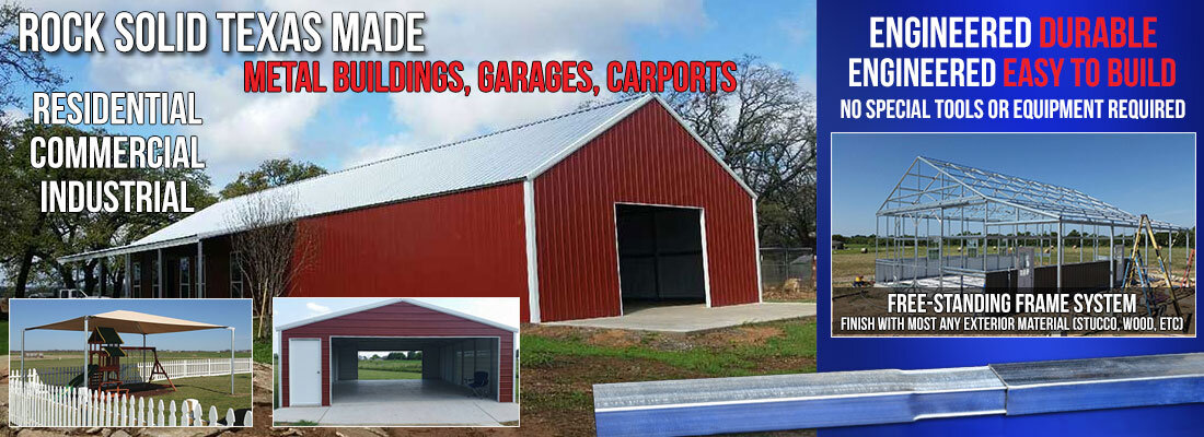 Metal Buildings and Carports in Texas