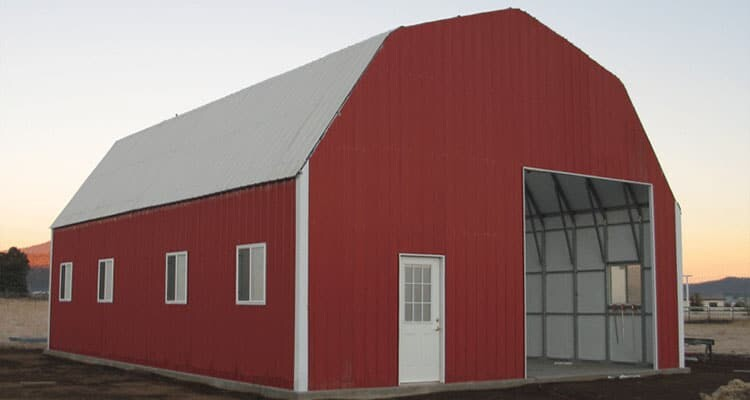 Metal building kits and garage kits for Two story metal building kits