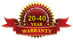20-40 year warranty on panels