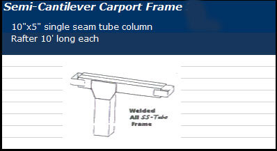 Semi Cantilever Frame Pricing