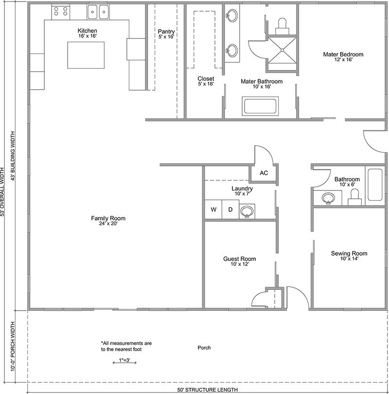 Country Road Style Floor Plan